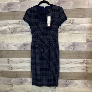 NWT Banana republic Plaid Navy Dress Size 0